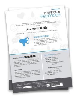 Certificado ofrecido por reconoce